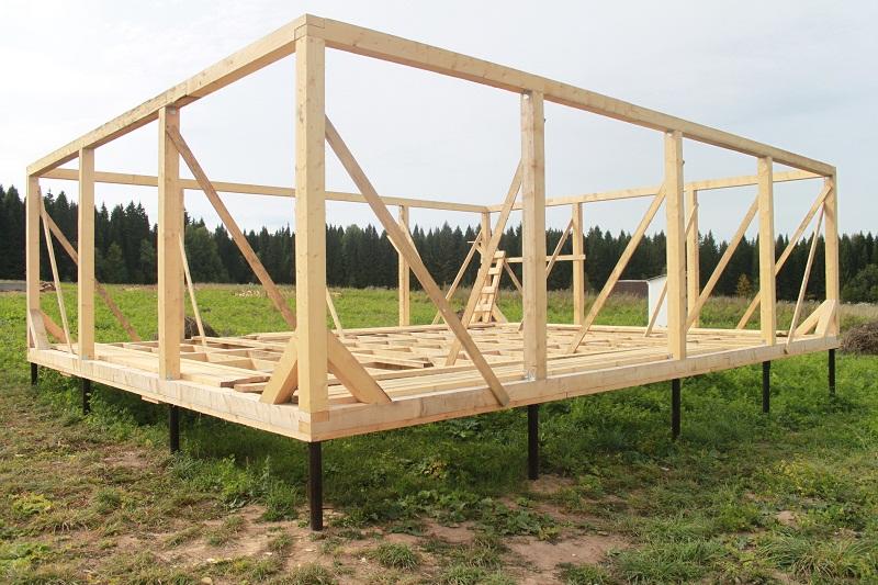 Строительство каркасный дом своими руками фото